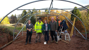 Volunteers help to create a tree nursery in Denbighshire