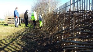 Help for hedgerows at Coedpoeth Community Centre
